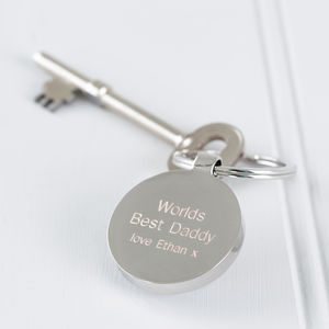 Personalised Worlds Best Daddy Keyring