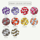 Circular Striped Paper Straws