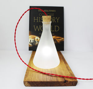 Industrial Glass Table Lamp - desk lamps
