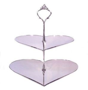 Novelty Shaped Two Tier Mirrored Cake Stand