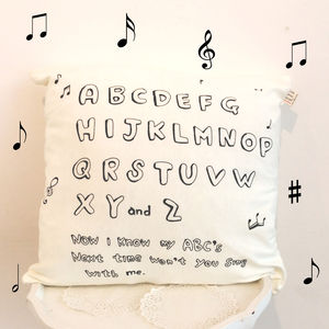 'Abc Song' Nursery Cushion Cover - new baby gifts