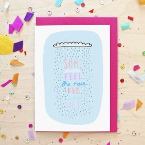 Inspirational Rain Quote Greeting Card