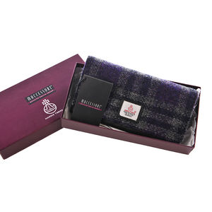 Harris Tweed Ladies Purse With Italian Leather - bags & purses