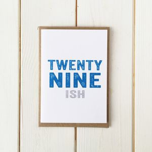 Personalised Birthday Number Ish Greetings Card - special age birthday cards