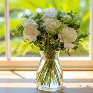 Scented White Peony Bouquet - fresh flowers