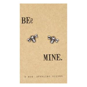 Bee Mine Silver Earrings - earrings