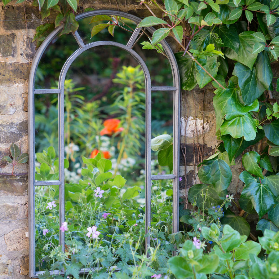 provence secret garden outdoor mirror by the flower studio