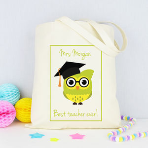 Personalised 'Best Teacher Ever' Tote Bag - gifts for teachers