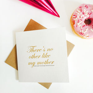 No Other Like My Mother, Gold Foil Card - mother's day cards
