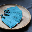 Teal Leather Bespoke Engraving - Font of your choice