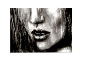 Charcoal Original Signed Drawing' Taste The Rain' - view all sale items