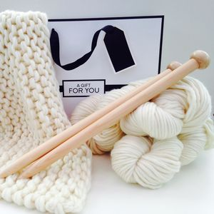 Baby Blanket Knitting Kit - crafting