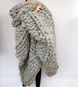 Giant Hand Knitted Super Chunky Blanket - blankets & throws