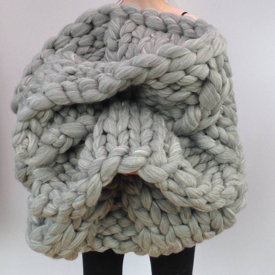 giant hand knitted super chunky blanket by wool couture ...