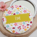 Personalised Ladybird And Florals Pocket Mirror