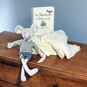 Baby Gift Set With Mohair Shawl