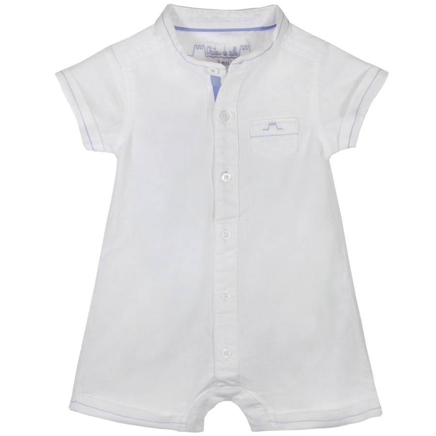 Unique Baby Boy Classic White Romper With Contrast Stitching By Chateau  With Entrancing Baby Boy Classic White Romper With Contrast Stitching With Delightful Garden Services Burton On Trent Also Homes For Sale Palm Beach Gardens In Addition Harrogate Botanical Gardens And Gardening Direct Discount Code As Well As Breakfast In Covent Garden Additionally Four Wheel Garden Trolley From Notonthehighstreetcom With   Entrancing Baby Boy Classic White Romper With Contrast Stitching By Chateau  With Delightful Baby Boy Classic White Romper With Contrast Stitching And Unique Garden Services Burton On Trent Also Homes For Sale Palm Beach Gardens In Addition Harrogate Botanical Gardens From Notonthehighstreetcom