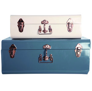 Metal Storage Trunk - boxes, trunks & crates