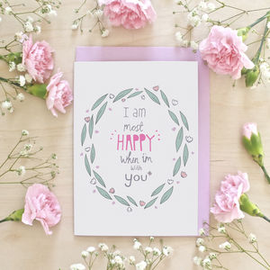 Happy With You Anniversary Greeting Card - anniversary cards