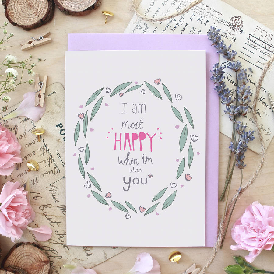Happy With You Anniversary Greeting Card By Ginger Pickle