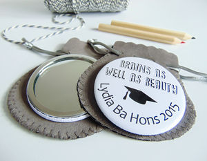 Graduation Pocket Mirror - graduation gifts