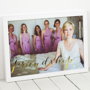 Personalised Metallic Photo Art Print - wedding gifts