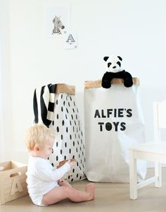 Personalised Paper Storage Sack - laundry room