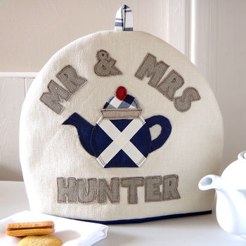 Personalised Scottish Flag Tea Cosy