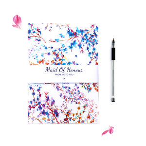 Maid Of Honour Notebook - spring styling