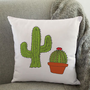 Cactus Cushion - bedroom