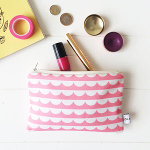 Amelia Scallop Eco Canvas Make Up Bag - make-up bags