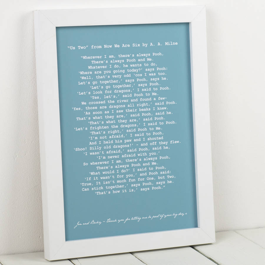 Personalised Wedding Reading Art Print For Him