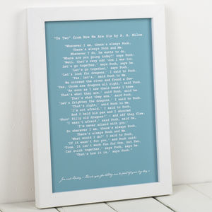 Personalised Wedding Reading Art Print - for him