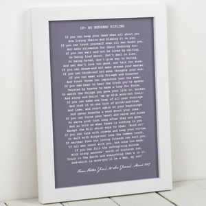 Personalised Poem Art Print - by year