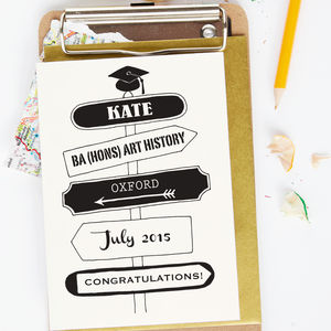 Personalised Graduation Signpost Card - graduation cards