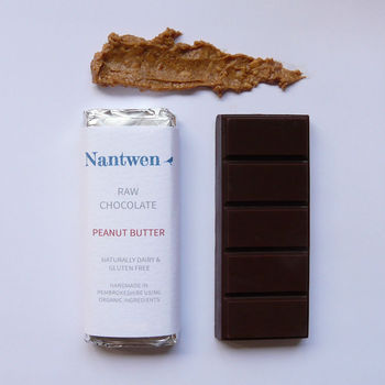 Raw Chocolate Bar With Peanut Butter