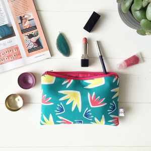 Lulu Floral Eco Canvas Make Up Bag