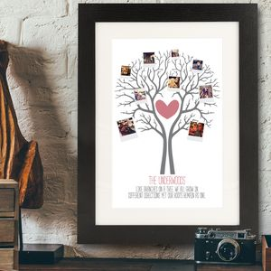 Personalised Polaroid Style Family Tree Framed Print - family & home