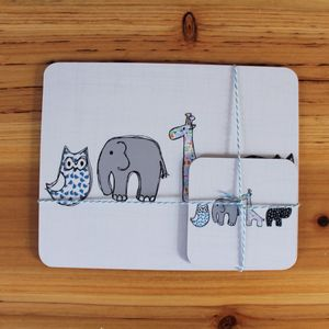 Children's Placemat And Coaster Set