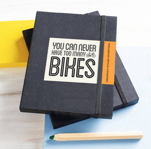 Personalised Bike Notebook - under £25