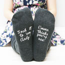 Personalised Women's Sock It To Them Socks