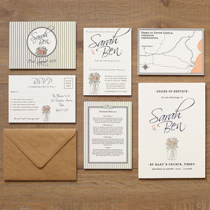 Vintage Style Wedding Stationery - invitations