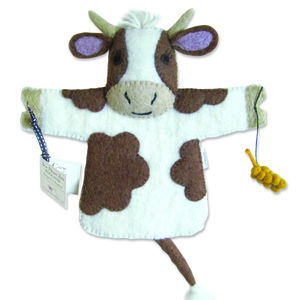 Buttercup Cow Puppet - pretend play & dressing up