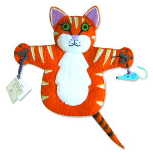 Ginger The Cat Puppet - pretend play & dressing up