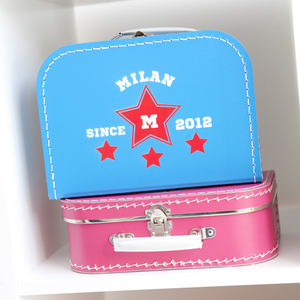 Personalised Mini Suitcase - toy boxes & chests