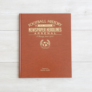 Personalised Football History Book - interests & hobbies