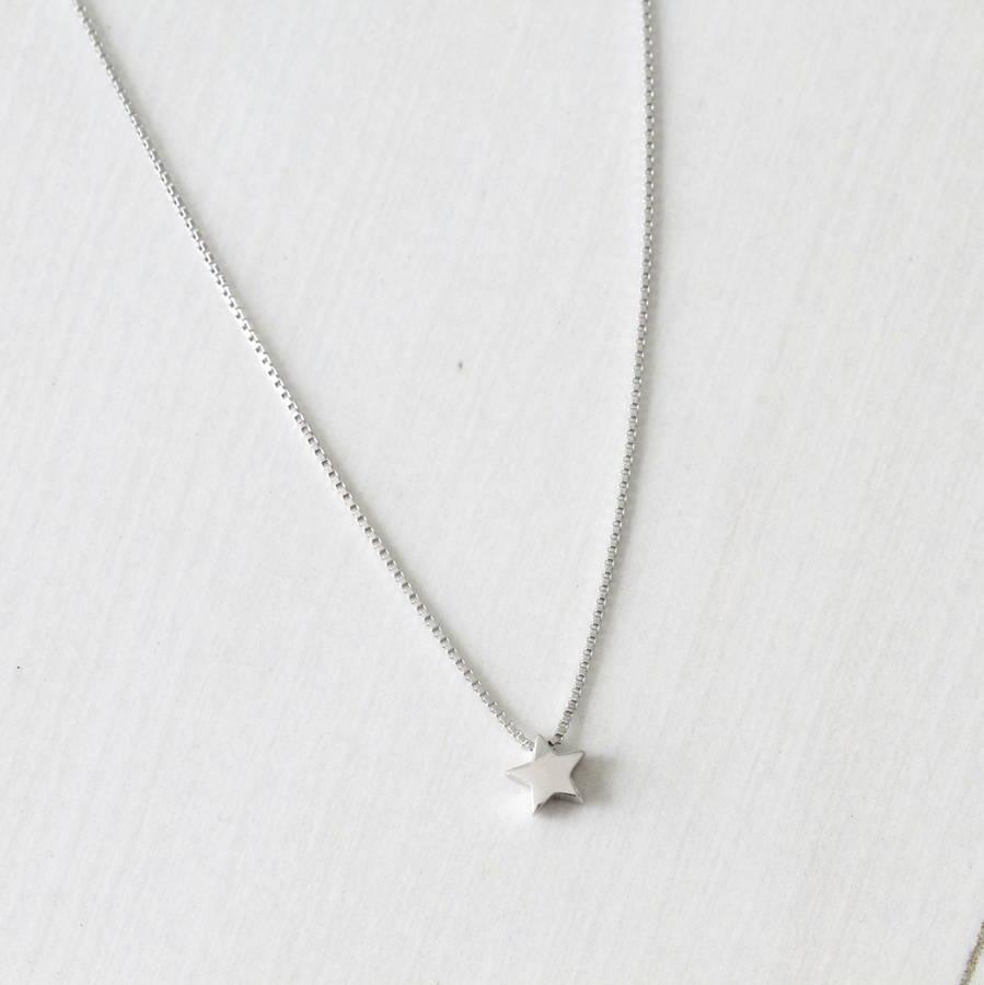 Silver Mini Star Pendant Necklace By Attic