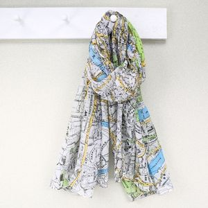 London Map Scarf - hats, scarves & gloves
