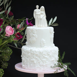 Vintage Style Bride And Groom Wedding Cake Topper - table decorations
