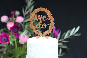 We Do Wedding Cake Topper - occasional supplies